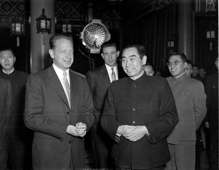 Dag Hammarskjold and Chou En-Lai