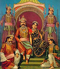yudhistra-Draupadi_and_Pandavas